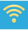 Wifi icon blue yellow color vector