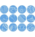 Maritime round icons collection vector