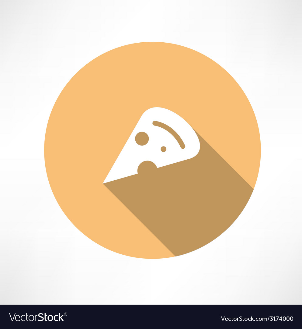 A slice of pizza vector | Price: 1 Credit (USD $1)