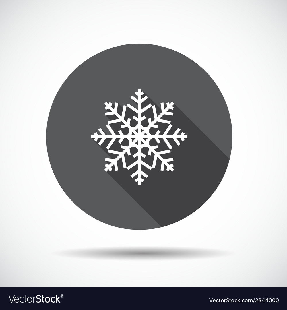 Christmas flat icon with long shadow vector | Price: 1 Credit (USD $1)