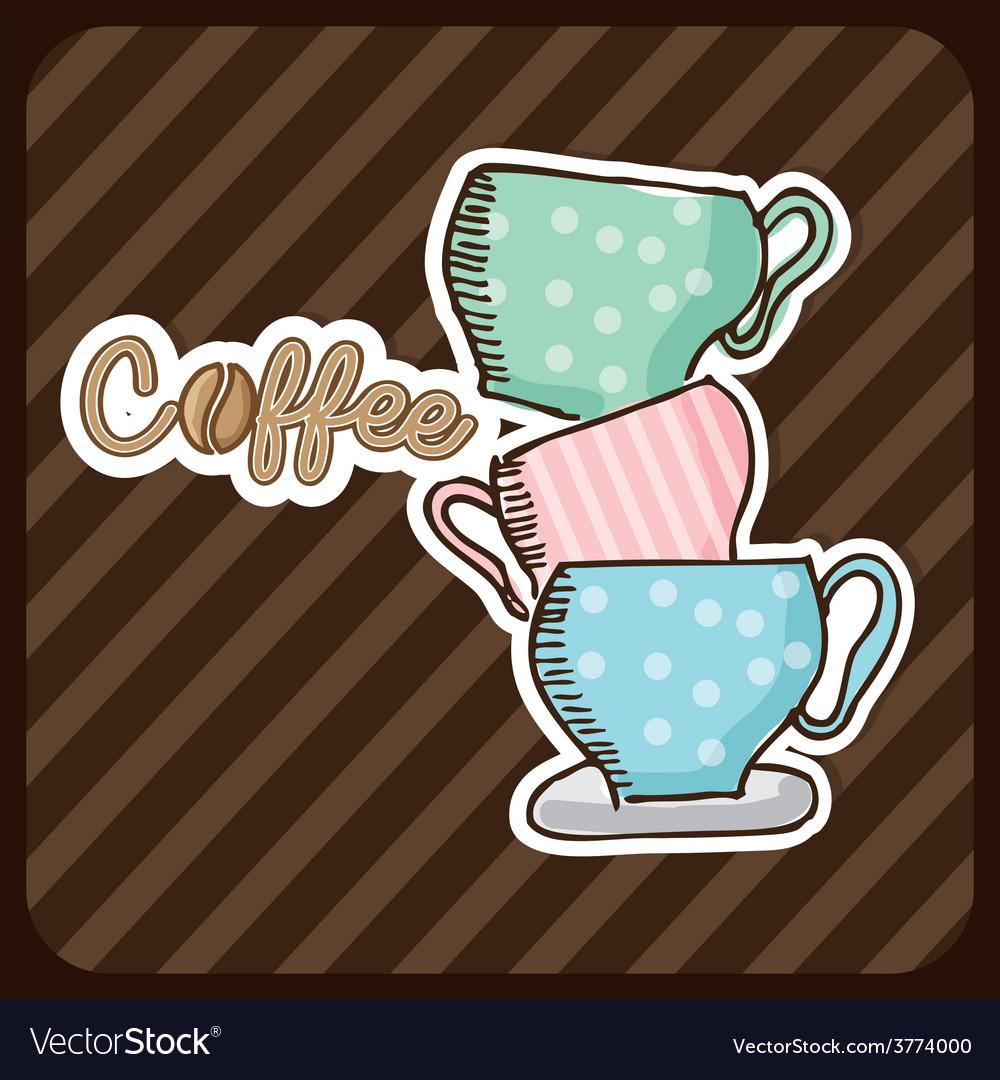 Delicious coffee vector | Price: 1 Credit (USD $1)