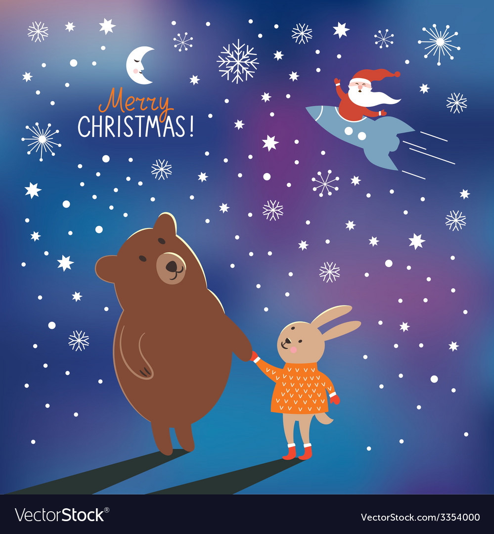 Greeting christmas card vector | Price: 1 Credit (USD $1)