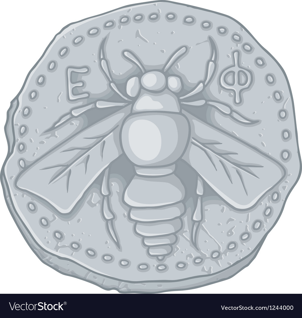 Honeybee coin vector | Price: 1 Credit (USD $1)