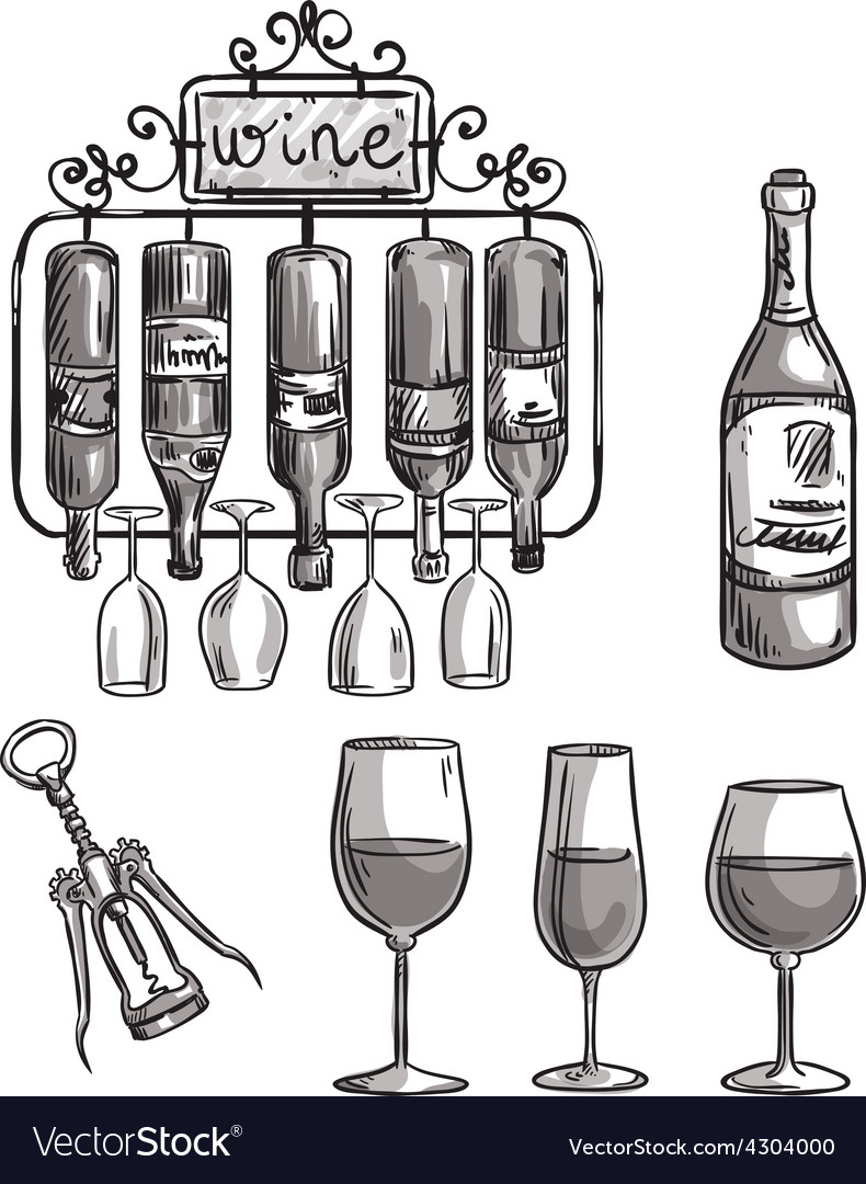 Iron cast wine holder vector | Price: 1 Credit (USD $1)