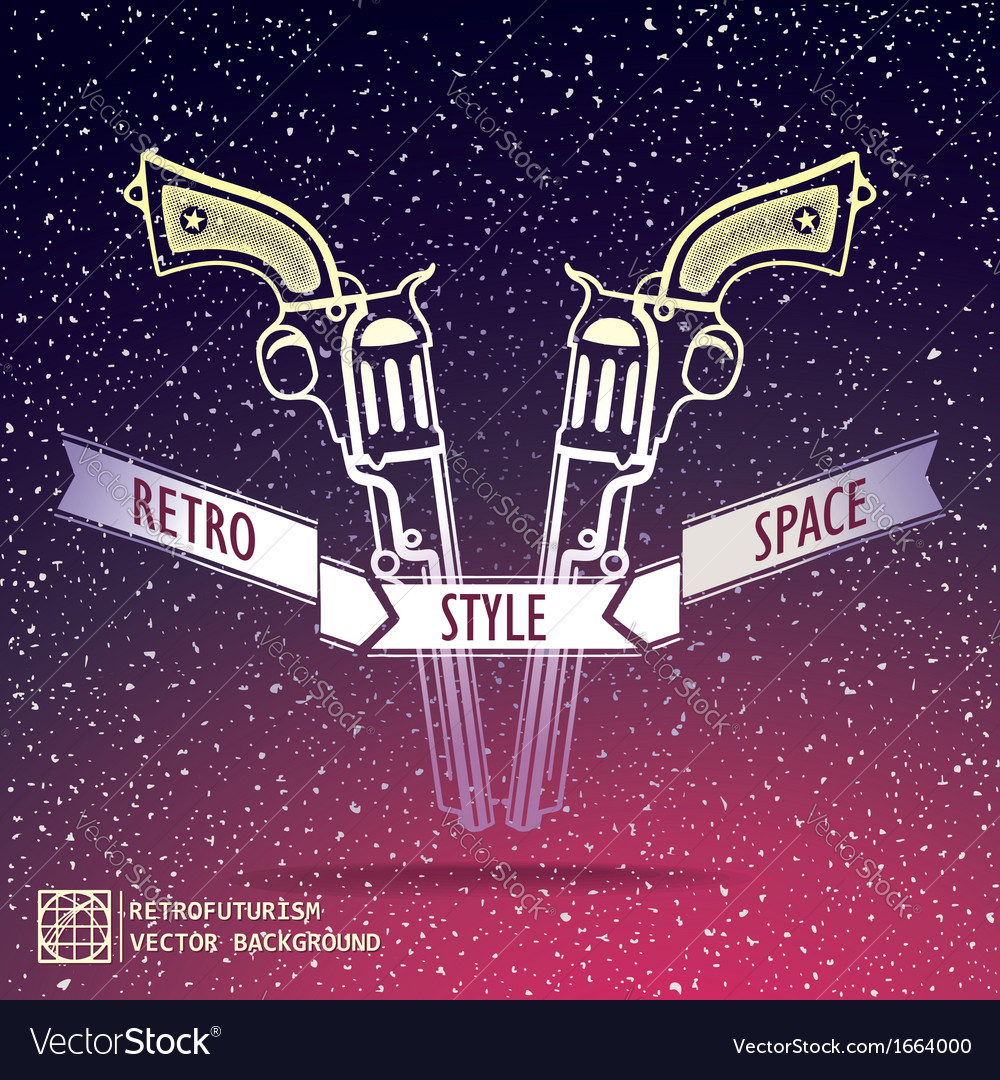 Just two revolver on space background vector | Price: 1 Credit (USD $1)