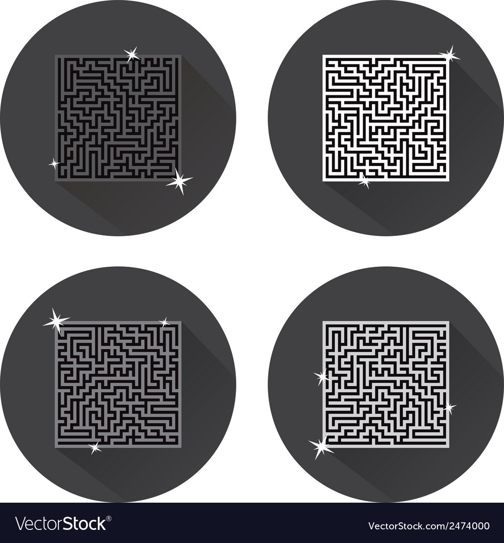Maze icons vector | Price: 1 Credit (USD $1)