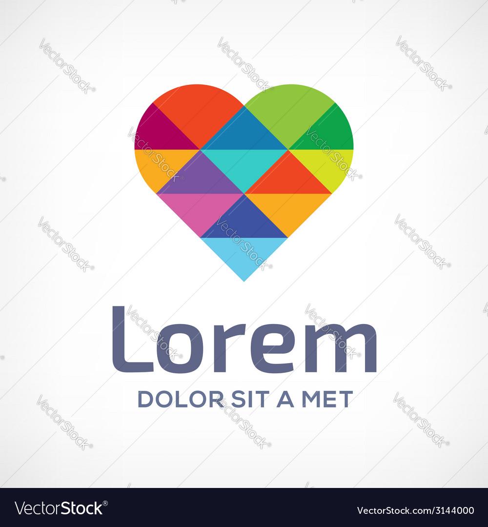 Mosaic heart symbol logo icon design template vector   Price: 1 Credit (USD $1)