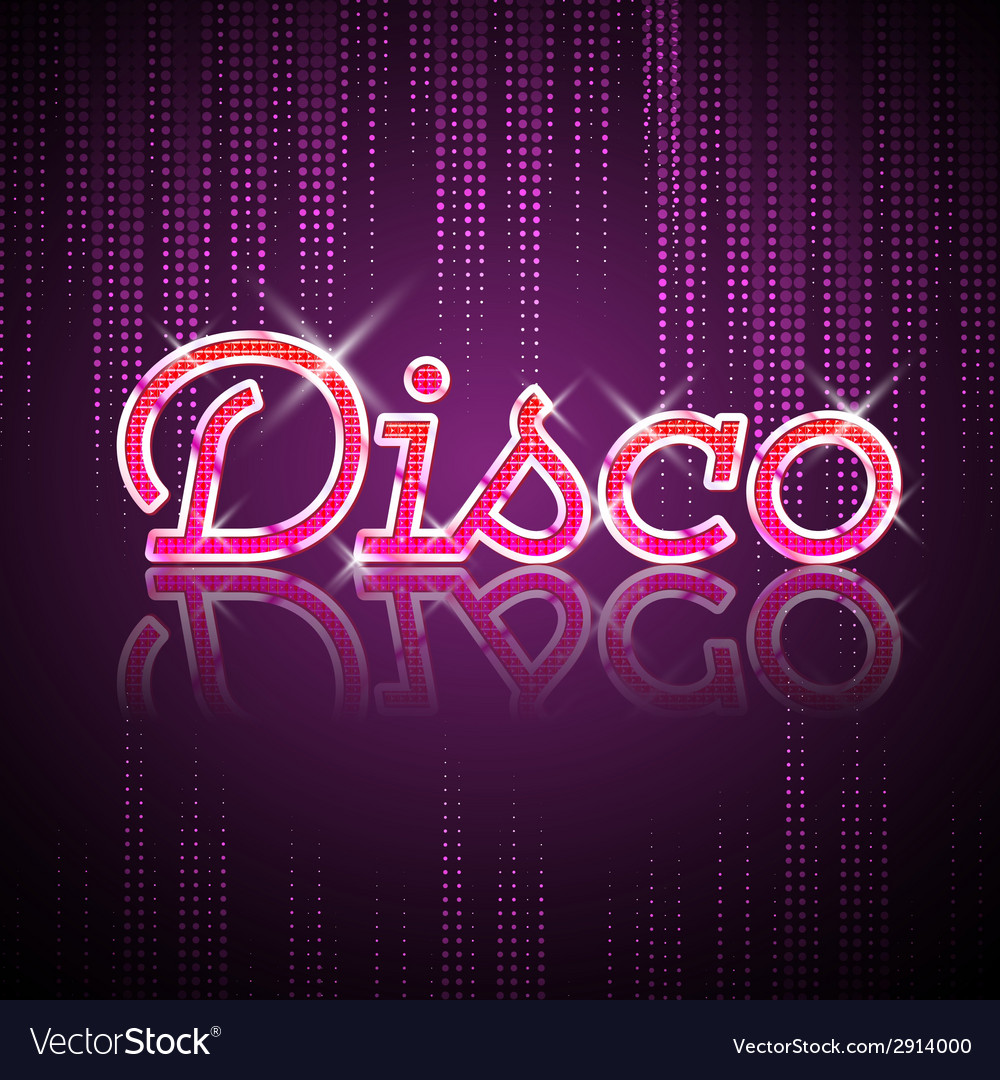 Neon sign disco party vector | Price: 1 Credit (USD $1)