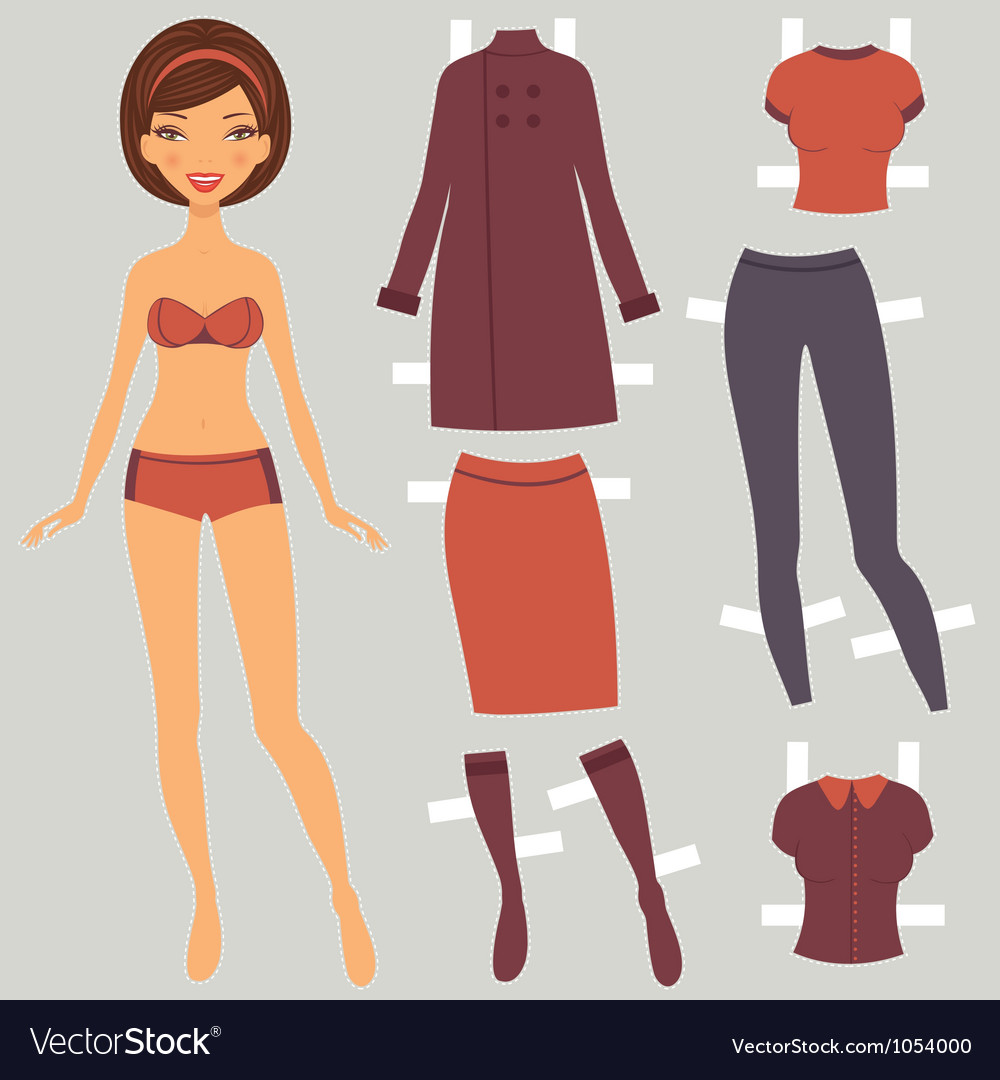 Paper doll autumn vector | Price: 1 Credit (USD $1)