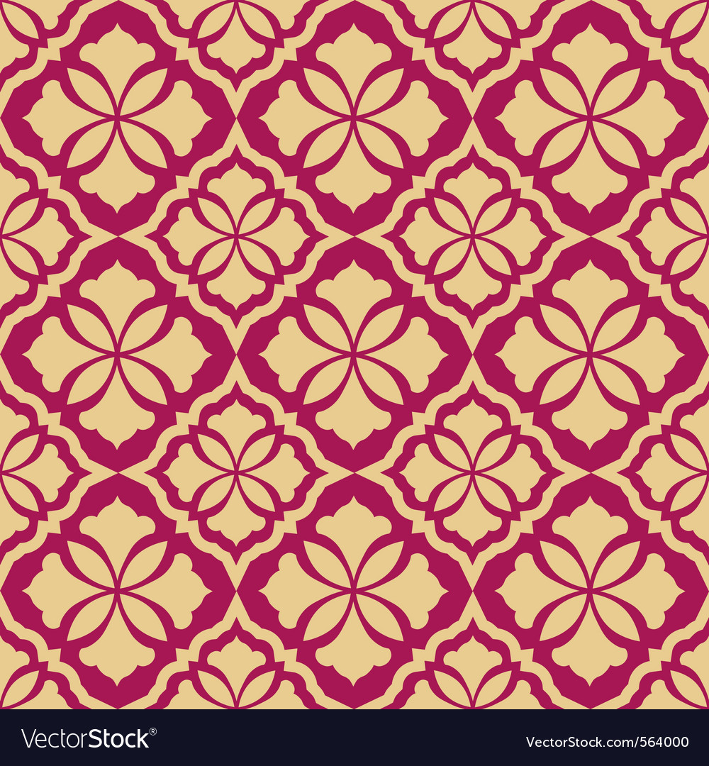 Retro seamless vintage wallpaper vector | Price: 1 Credit (USD $1)