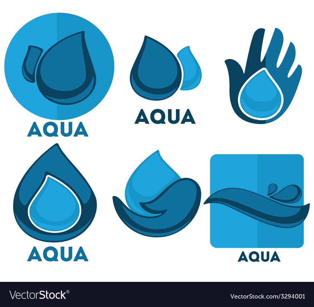 Aqua symbols vector | Price: 1 Credit (USD $1)