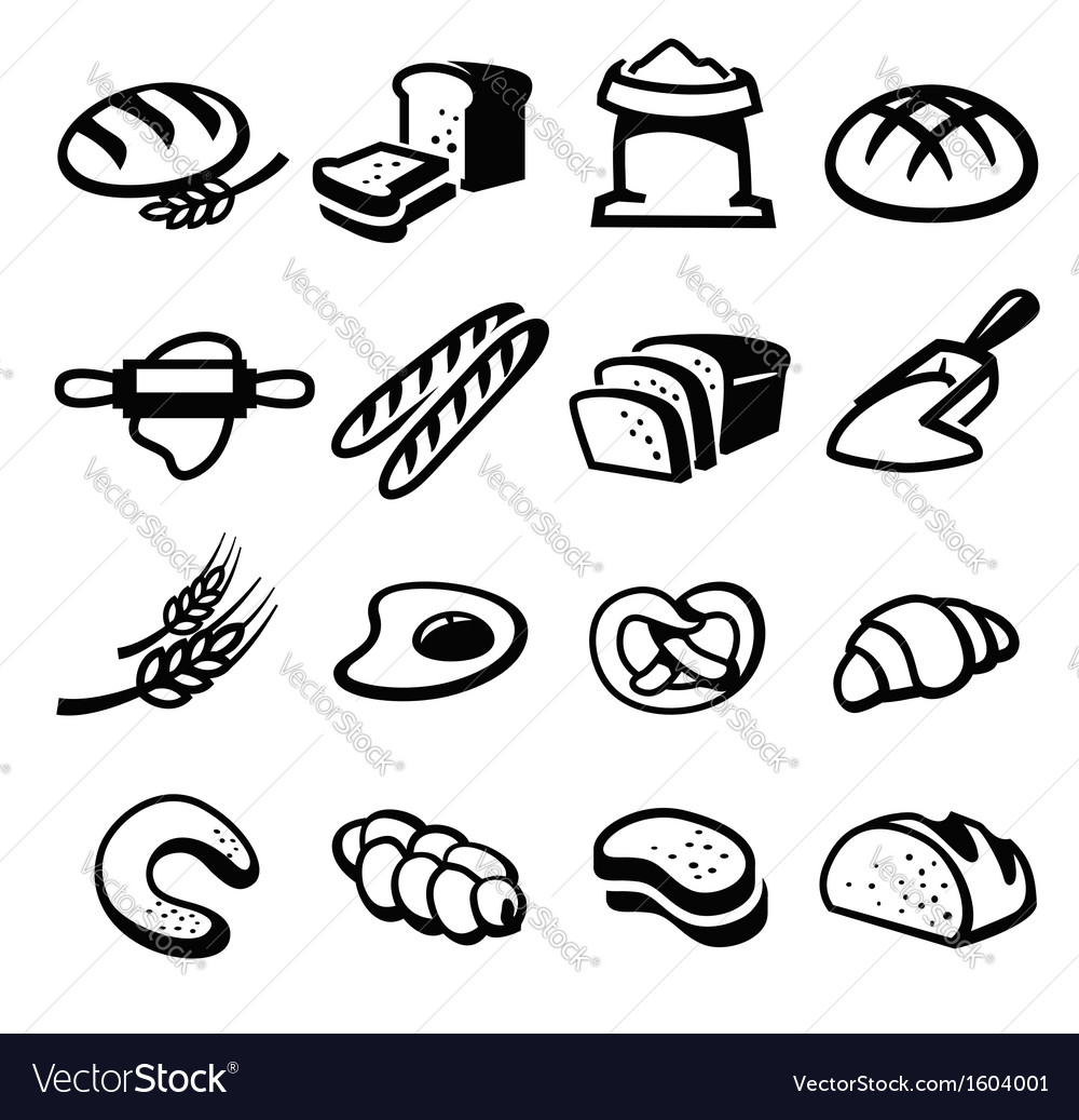 Bread icon vector | Price: 1 Credit (USD $1)