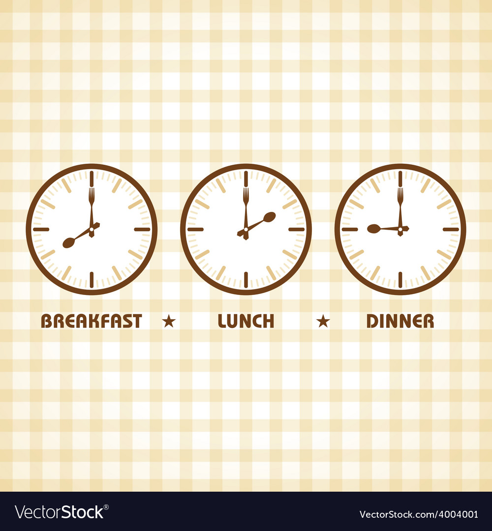 Breakfast lunch and dinner time vector | Price: 1 Credit (USD $1)