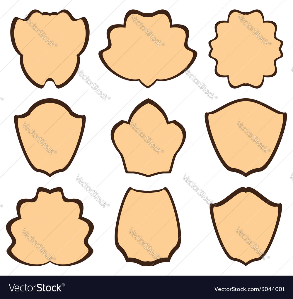 Brown heraldic frames - set vector | Price: 1 Credit (USD $1)