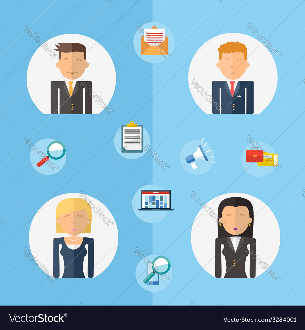 Business teamwork concept flat vector | Price: 1 Credit (USD $1)