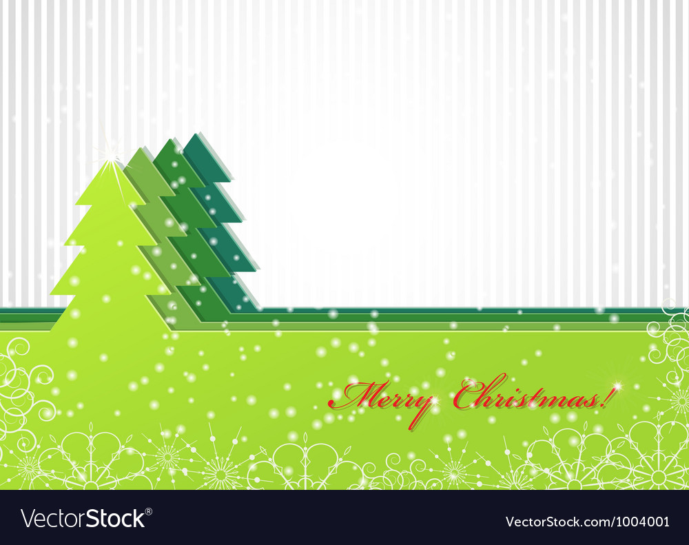 Christmas background with green fir-tree vector | Price: 1 Credit (USD $1)