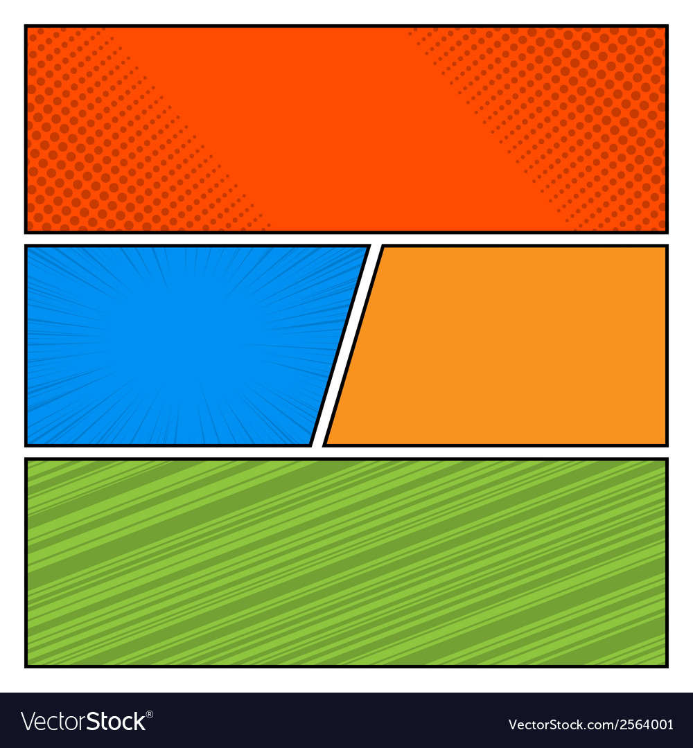 Comics color pop art style blank layout template vector | Price: 1 Credit (USD $1)
