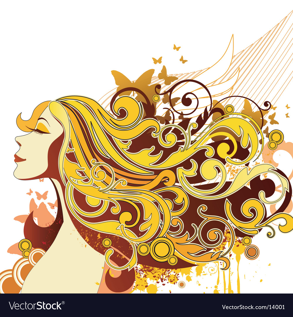 Fashion hairstyle vector