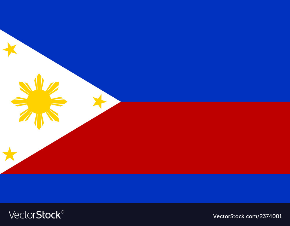Flag of the philippines vector   Price: 1 Credit (USD $1)
