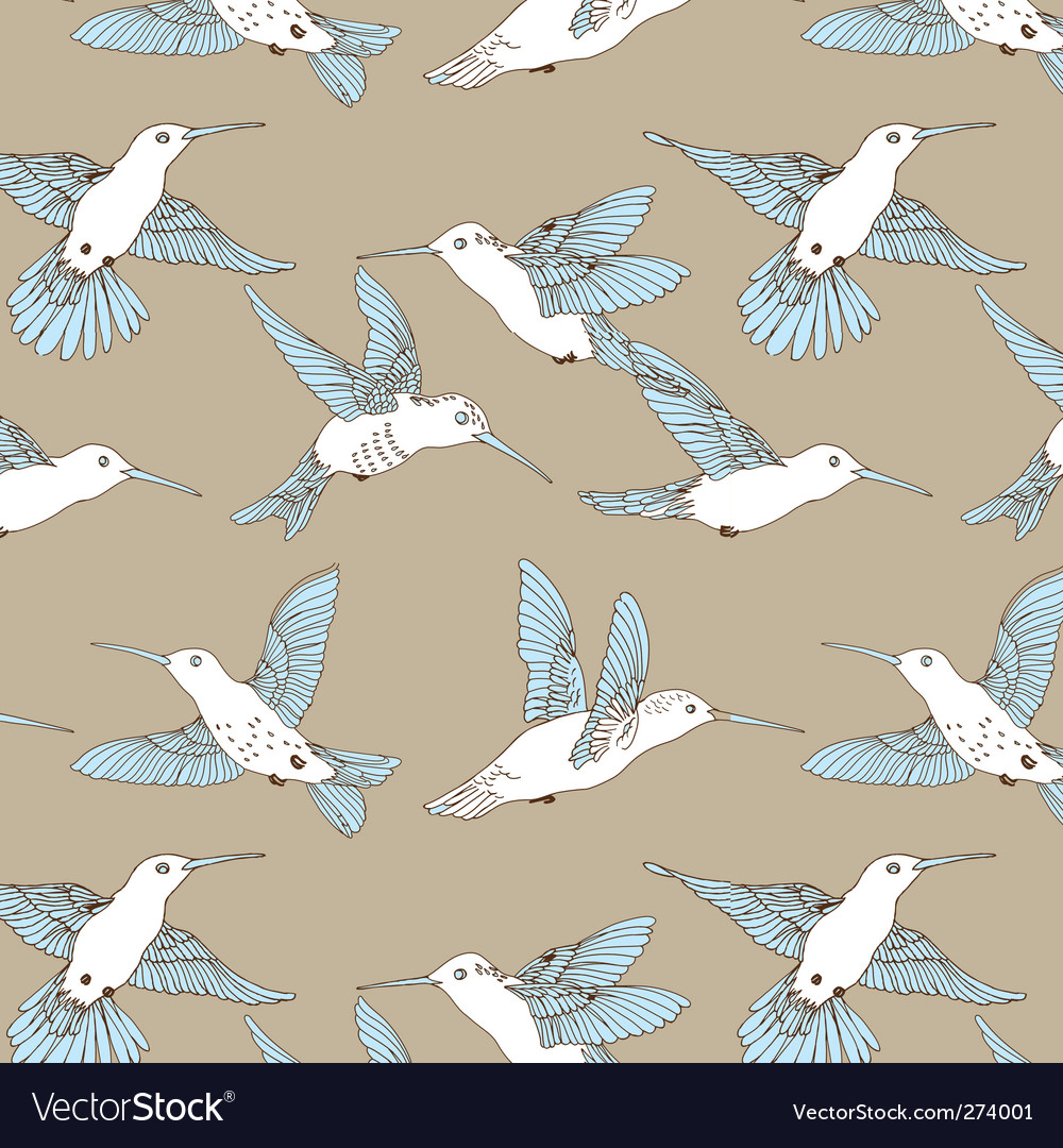 Humming bird pattern vector | Price: 3 Credit (USD $3)