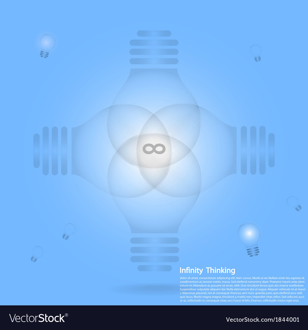 Light bulb infographic background vector | Price: 1 Credit (USD $1)