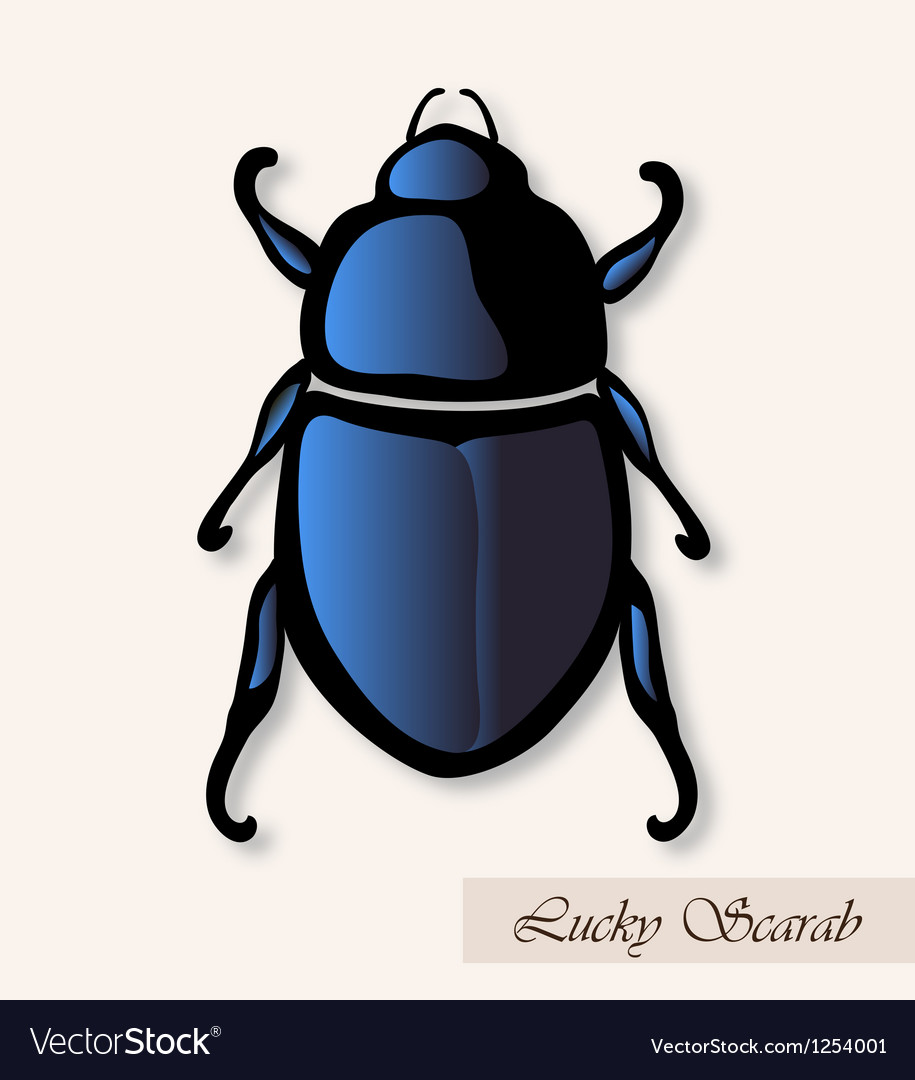 Lucky scarab vector | Price: 1 Credit (USD $1)