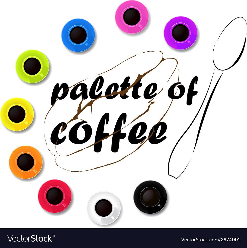 Palette of coffee vector | Price: 1 Credit (USD $1)