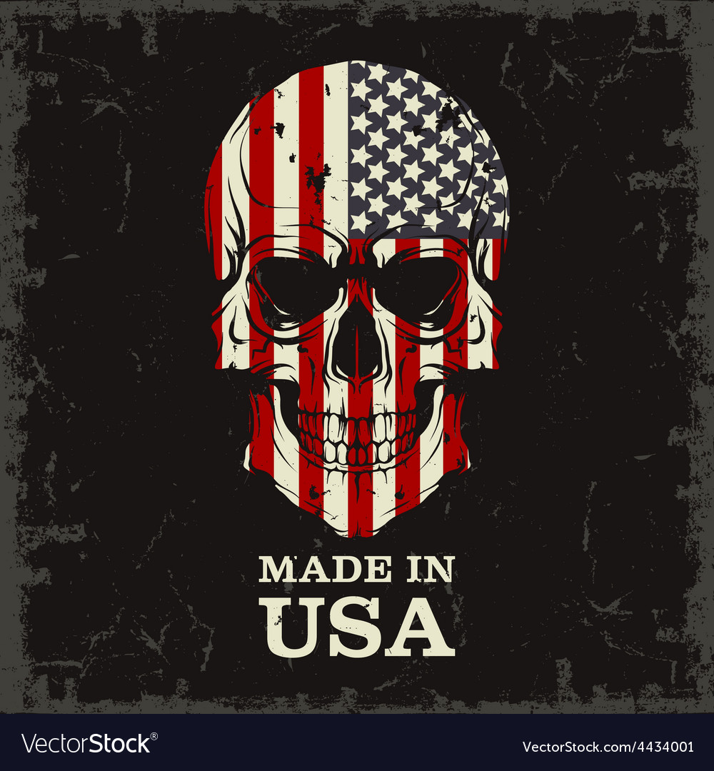 Skull color of the flag vector | Price: 1 Credit (USD $1)