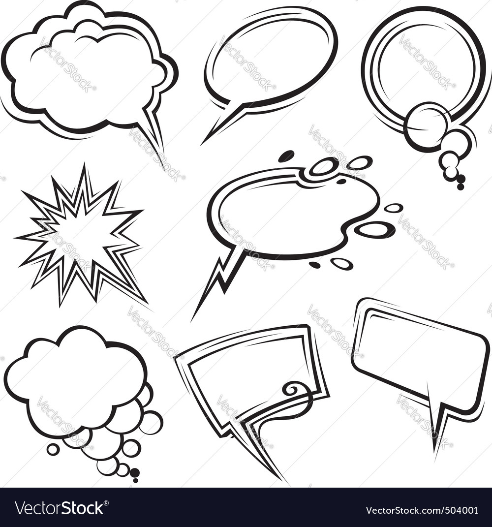 Speech bubbles collection vector | Price: 1 Credit (USD $1)