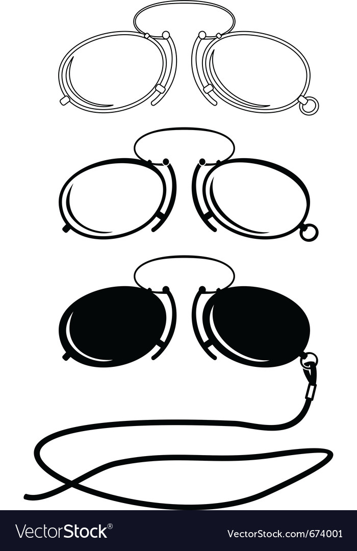 Vintage glasses vector | Price: 1 Credit (USD $1)