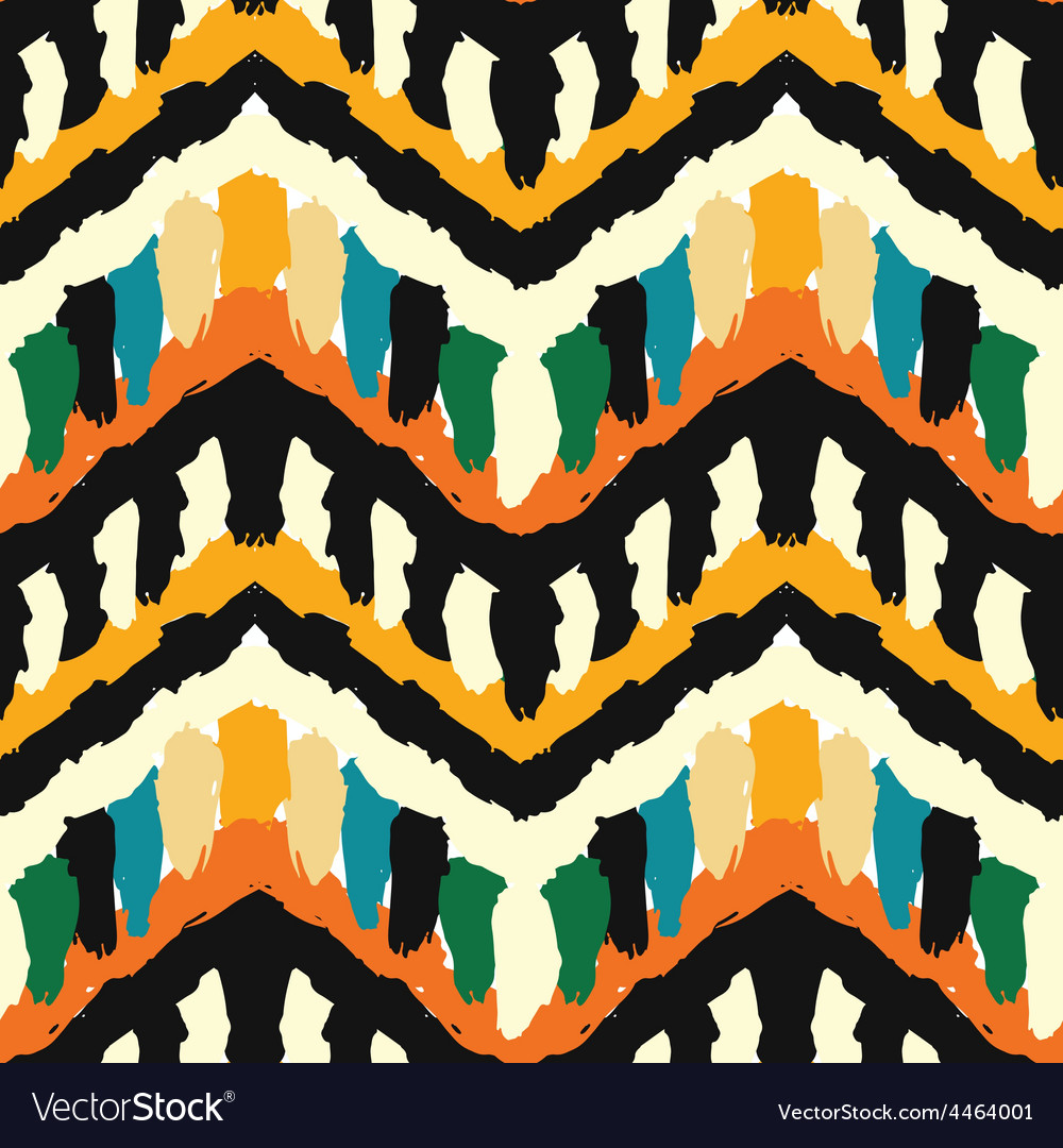 Zigzag ethnis pattern vector | Price: 1 Credit (USD $1)