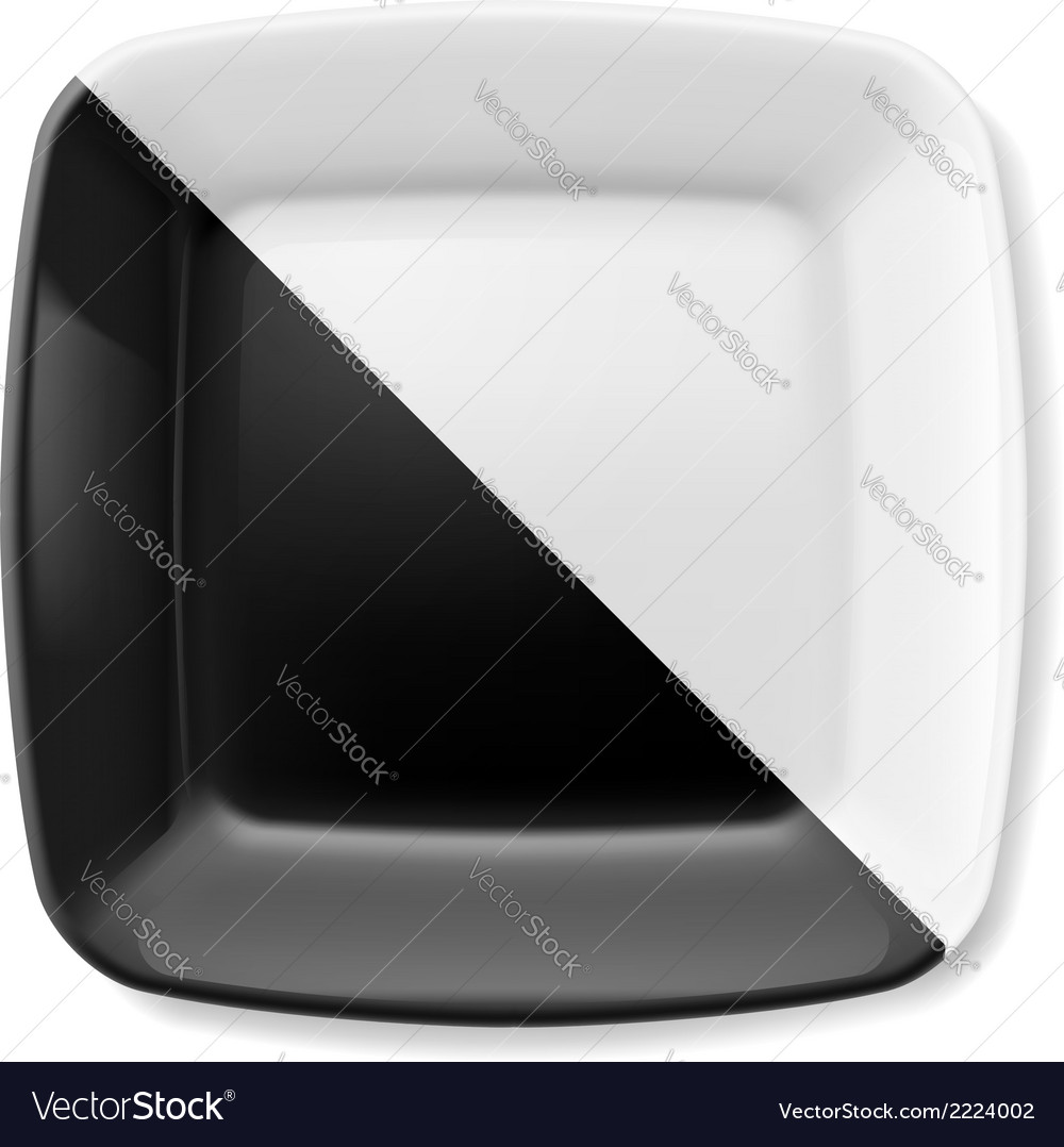 Black and white plate vector | Price: 1 Credit (USD $1)