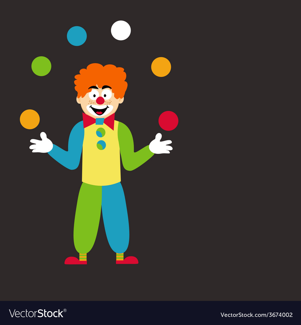 Clown juggling balls vector | Price: 1 Credit (USD $1)