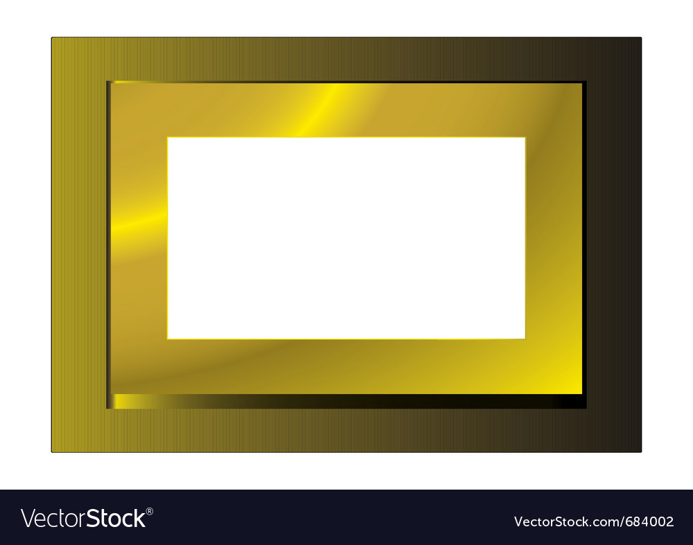 Gold metal frame vector | Price: 1 Credit (USD $1)