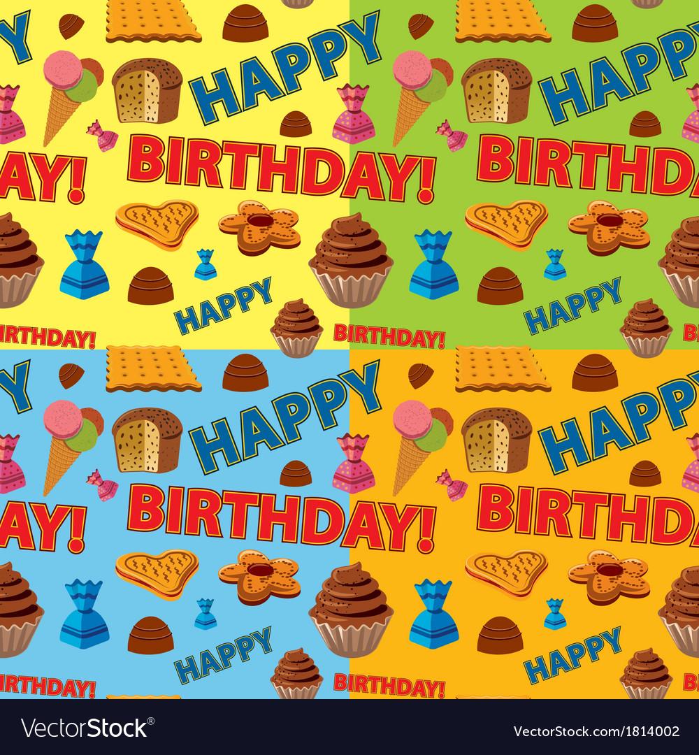 Happy birthday pattern vector | Price: 1 Credit (USD $1)