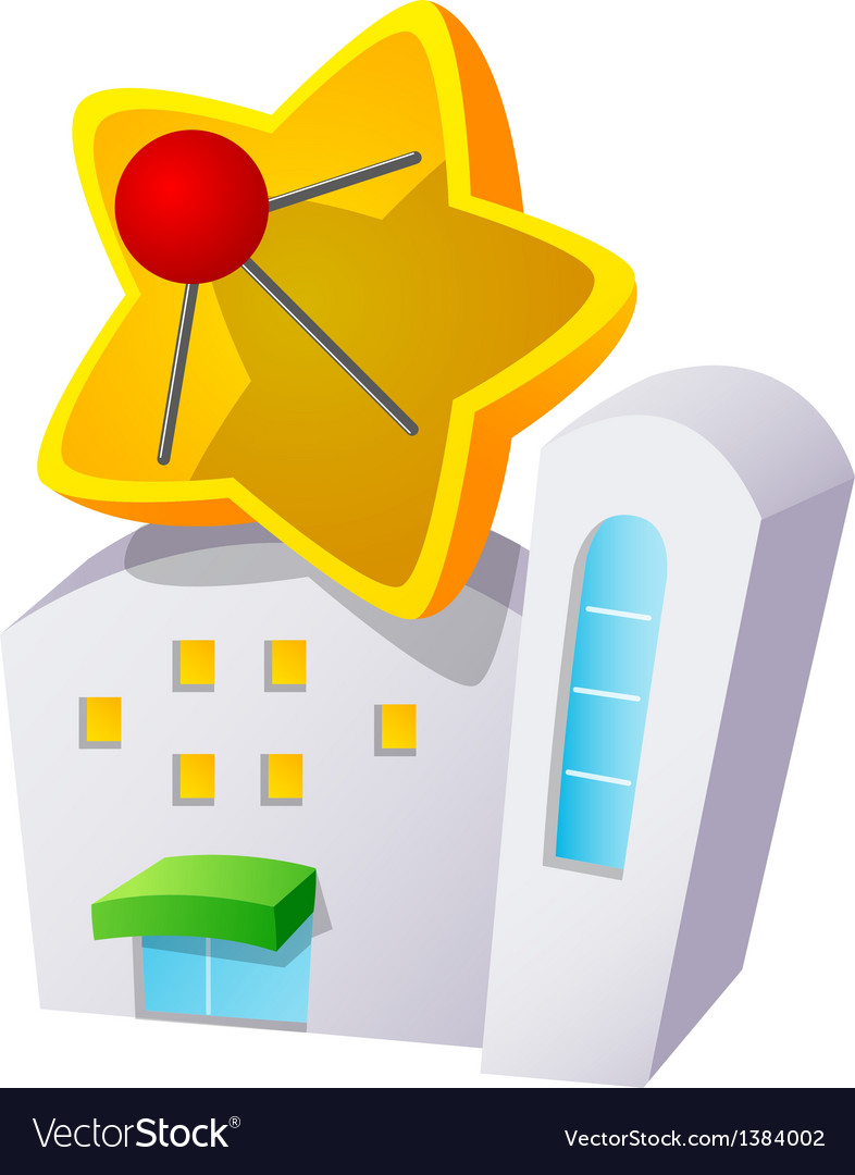Icon building and antenna vector | Price: 1 Credit (USD $1)