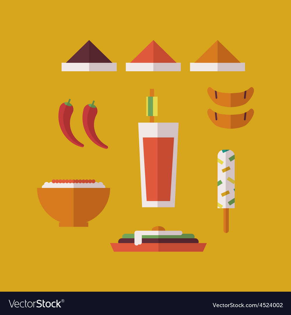 Indian food vector | Price: 1 Credit (USD $1)