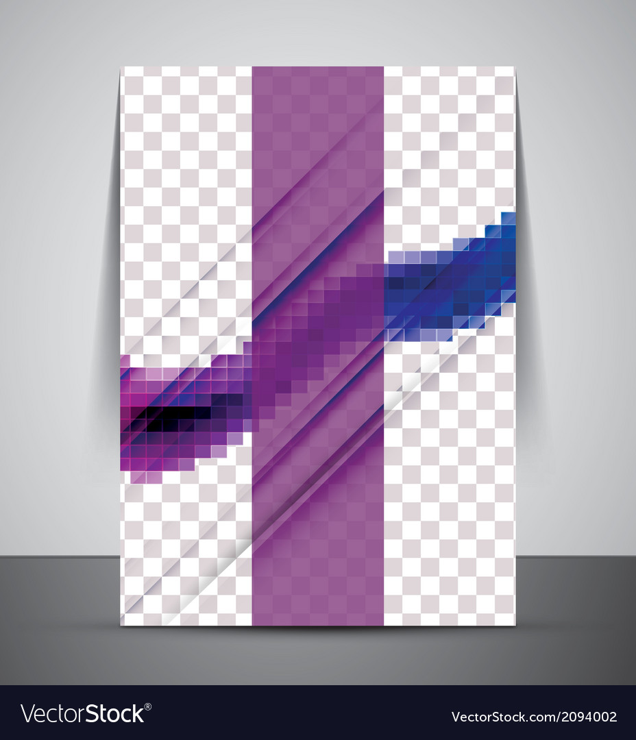 Wave abstract corporate flyer print design vector | Price: 1 Credit (USD $1)