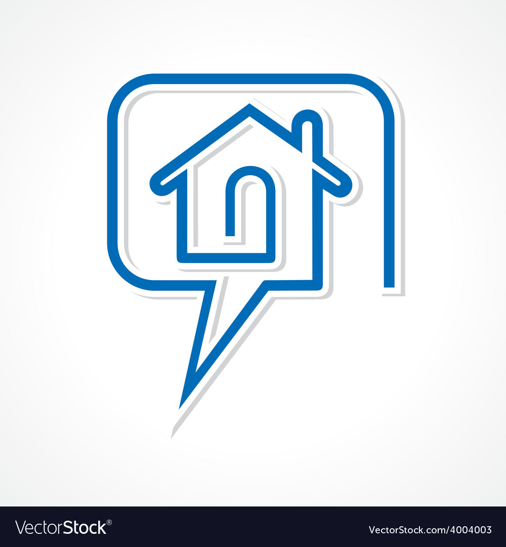 Chat for real estate concept vector | Price: 1 Credit (USD $1)