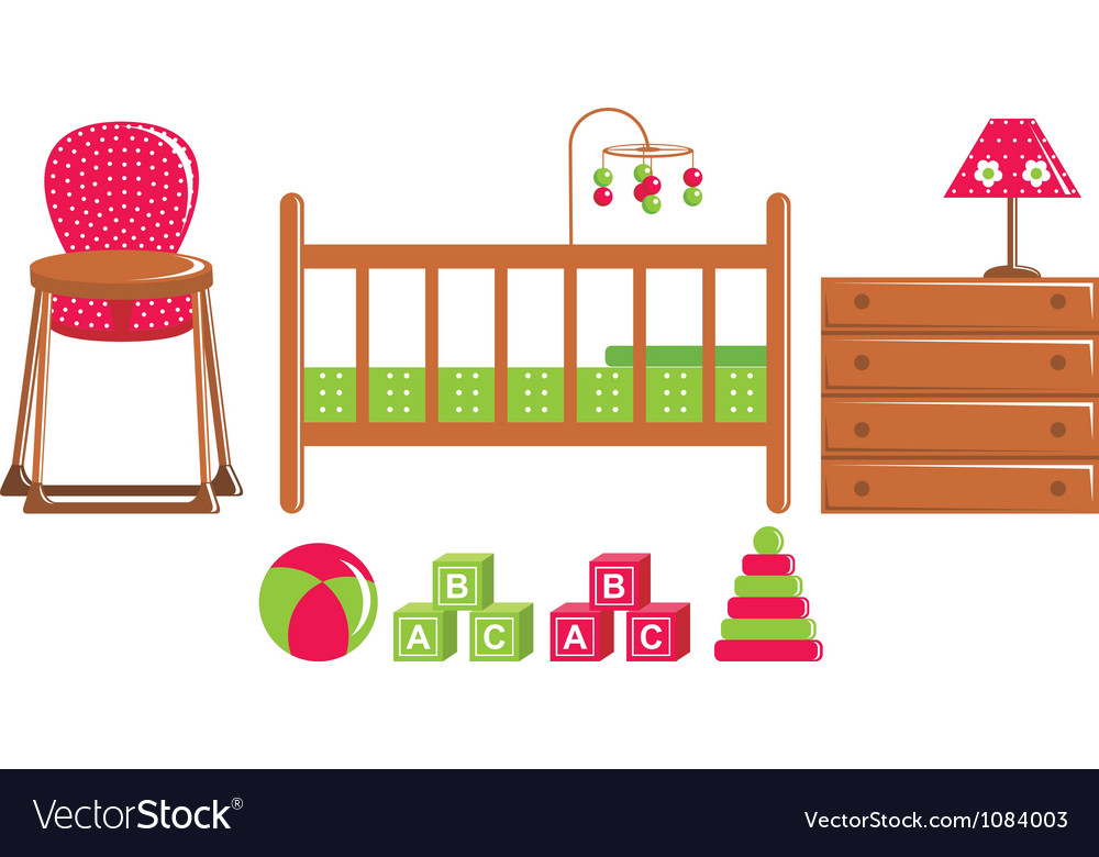 Children furniture and toys vector | Price: 1 Credit (USD $1)