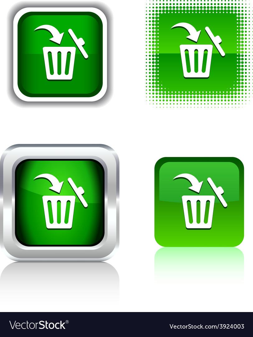 Delete icons vector | Price: 1 Credit (USD $1)