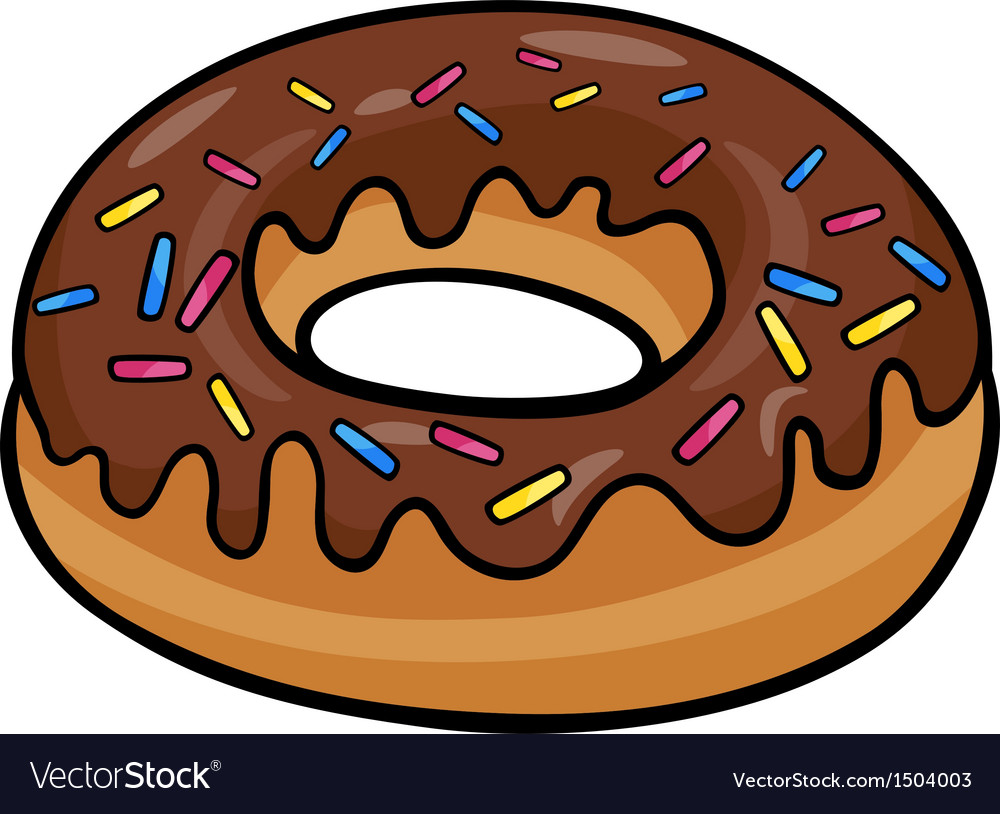 Donut clip art cartoon vector | Price: 1 Credit (USD $1)