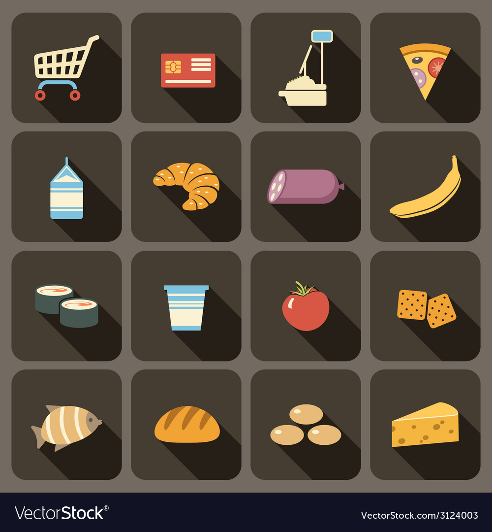 Flat icons set for web vector | Price: 1 Credit (USD $1)