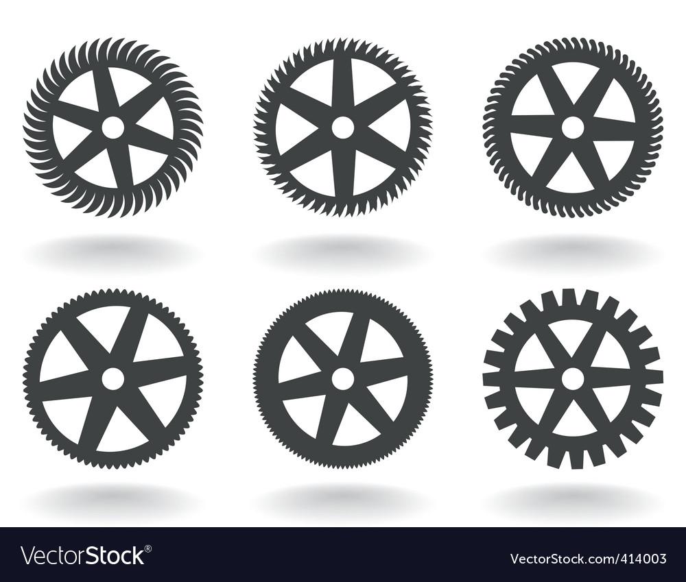 Gear wheel icons vector | Price: 1 Credit (USD $1)
