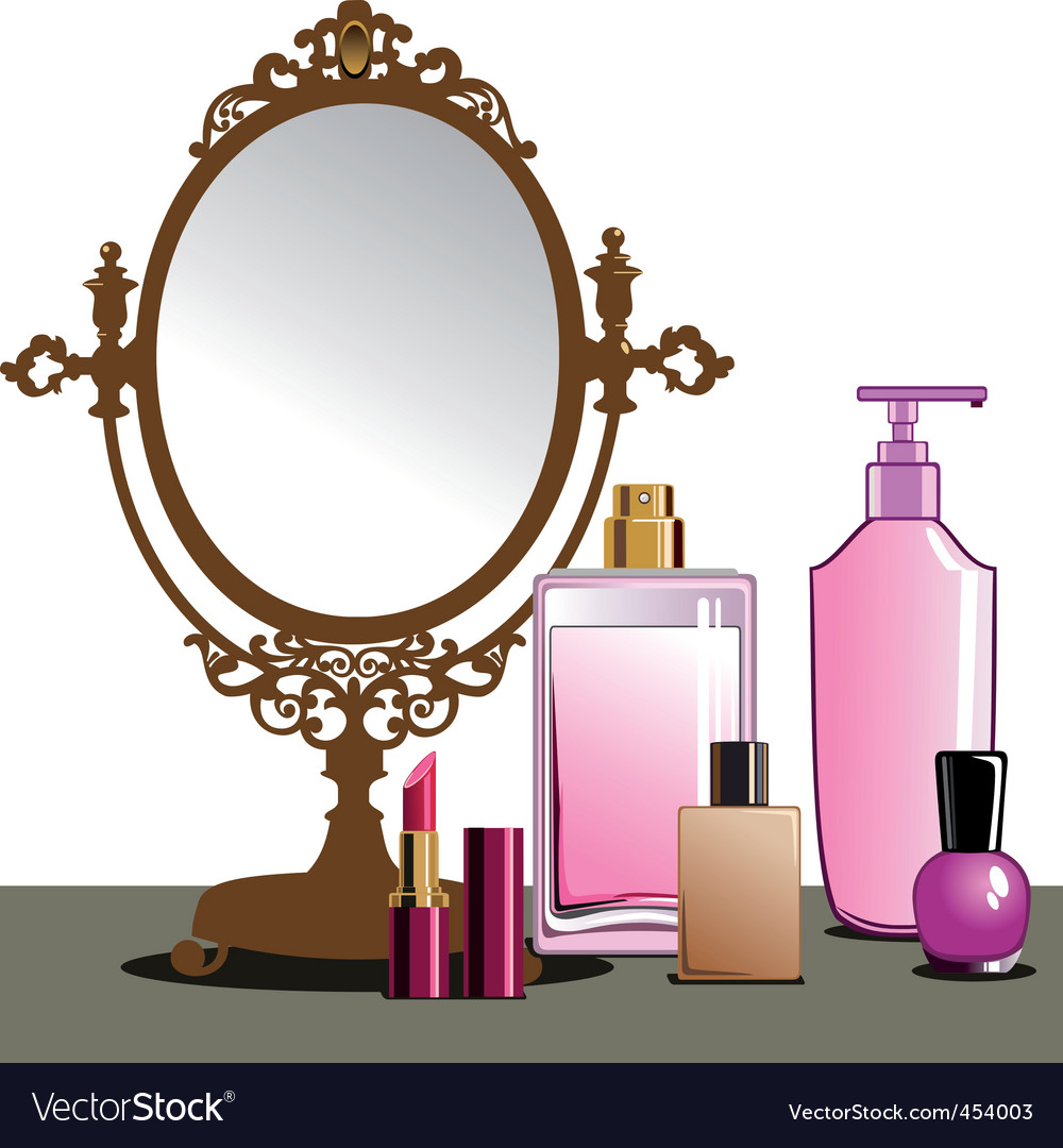 Makeup and mirror vector | Price: 1 Credit (USD $1)