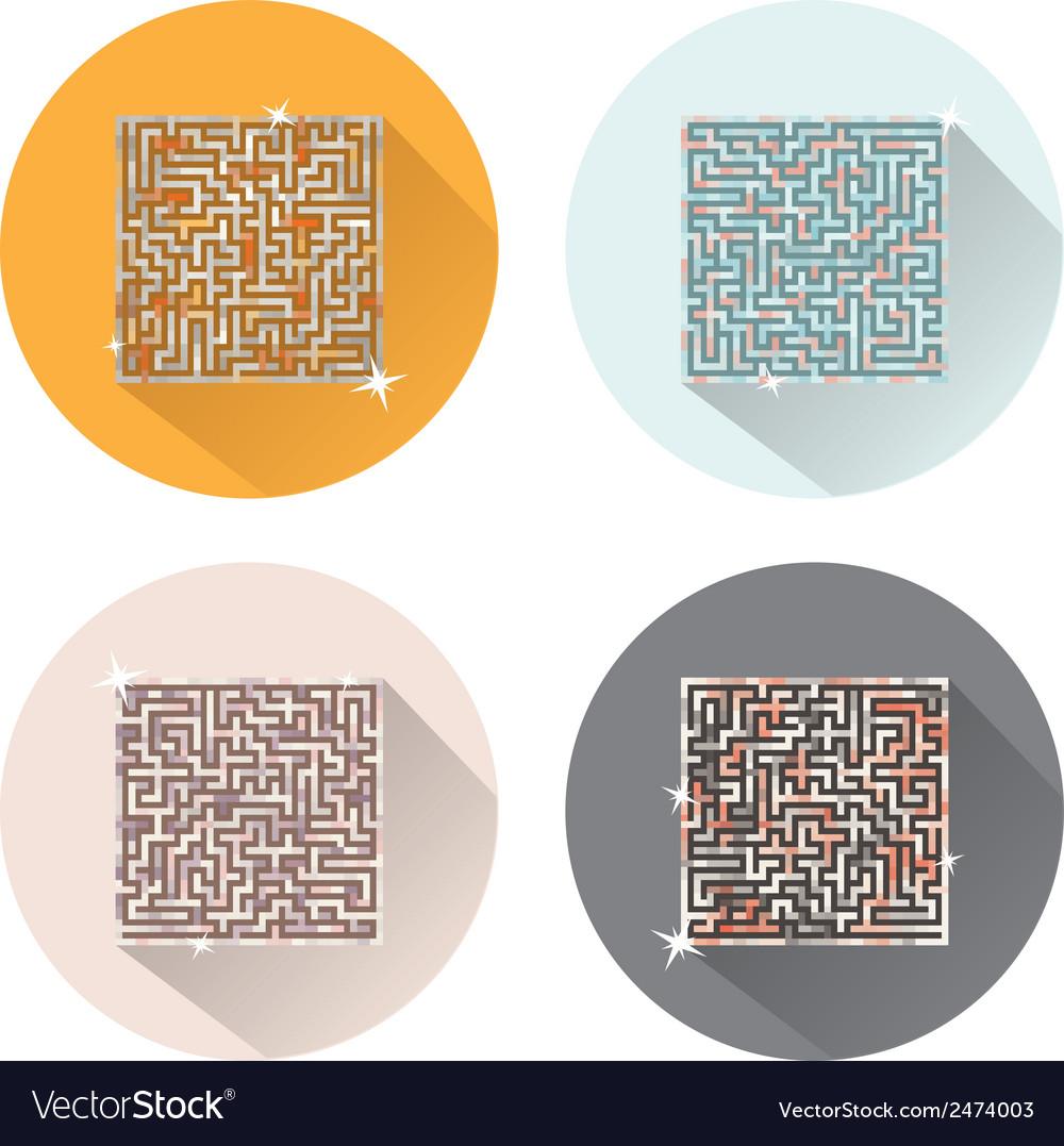 Maze icons vector | Price: 1 Credit (USD $1)
