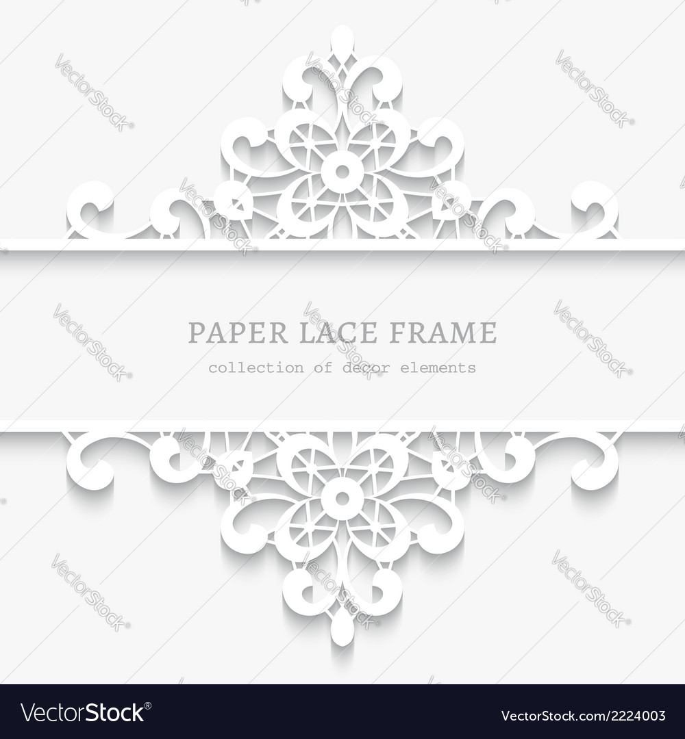 Paper lace divider frame vector | Price: 1 Credit (USD $1)