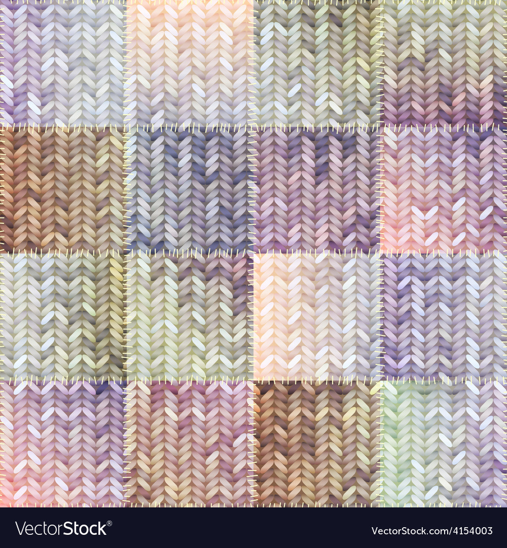 Patchwork of knitted patches vector | Price: 1 Credit (USD $1)