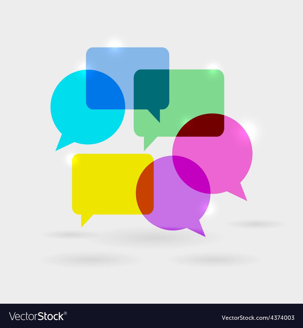 Social network communication speech bubbles vector | Price: 1 Credit (USD $1)