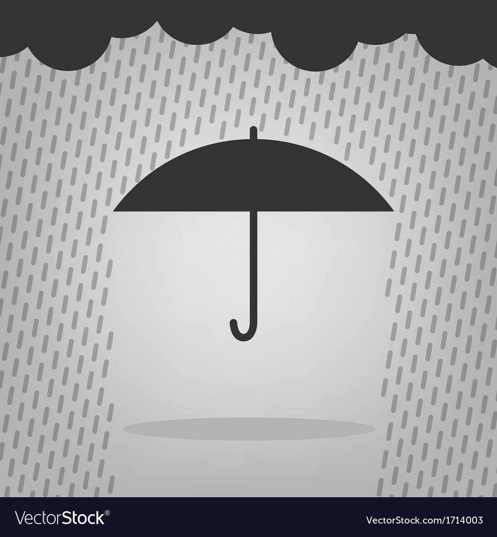 Umbrella and rain drops vector | Price: 1 Credit (USD $1)